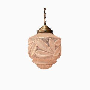 Plafonnier Art Nouveau en Verre