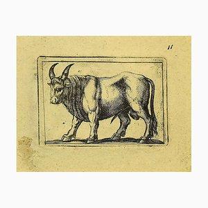 Antonio Tempesta, Bull, Etching, 1610s