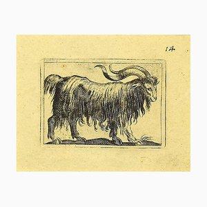 Antonio Tempesta, the Goat, Etching, 1610s