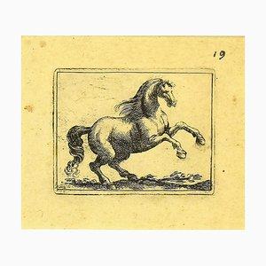 Antonio Tempesta, el caballo, aguafuerte, década de 1610