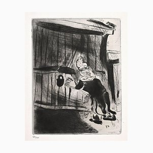 Marc Chagall, Plyushkin the Door, Etching, 1923-1927