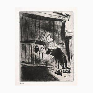 Marc Chagall, Plyushkin the Door, Radierung, 1923-1927