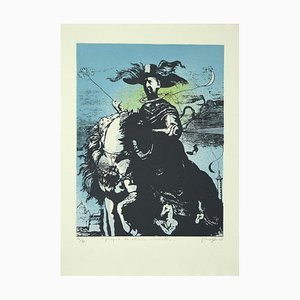 Guelfo Bianchini, Homage To De Chirico, Lithograph, 1978