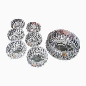 Mid-Century Glass Dessert Bowls, Set of 7