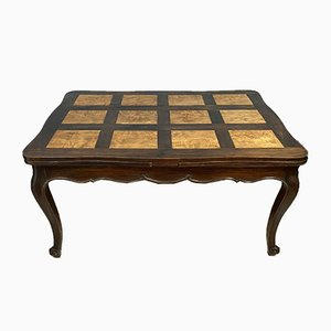 Louis XV Style Walnut & Elm Extendable Dining Table, Early 1900s