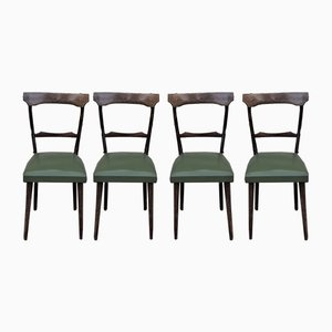 Chaises de Salon en Hêtre et Noyer, 1950s, Set de 4