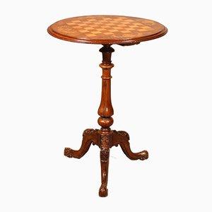 Englischer Walnuss Spieltisch, 1800er