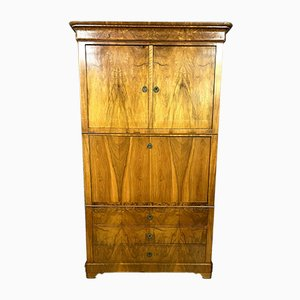 Blond Walnut Secretaire, 1830s