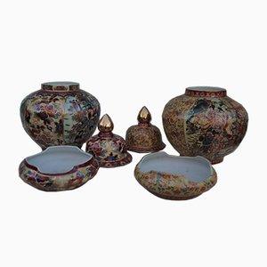 Handbemalte chinesische Vasen, 1960er, 2er Set