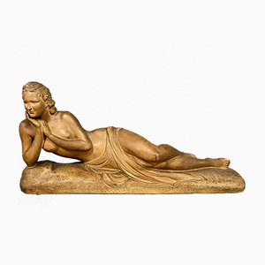 Terracotta Statue of Woman by Cipriani, 1930s