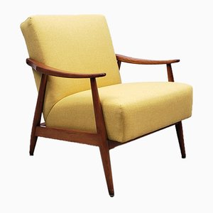 Danish Yellow Club Armchair, 1960s