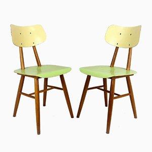 Vintage Esszimmerstühle aus Holz von TON, 1960er, 2er Set
