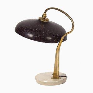 Skulpturale italienische Mid-Century Tischlampe mit Marmorsockel von Giuseppe Ostuni für Oluce, 1950er