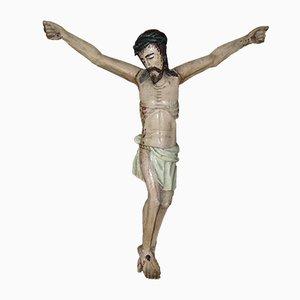 Holzfigur von P Jesus In Polychrom, 19. Jh