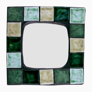 Ceramic Wall Mirror from Mithé Espelt, 1960s