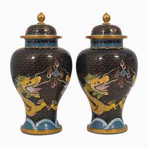 Vasetti decorativi antichi, inizio XX secolo, set di 2