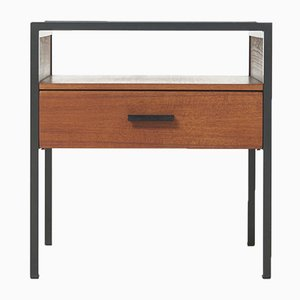 Dutch Teak & Metal Nightstand by Cees Braakman for Pastoe, 1960s