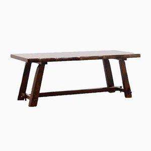 Brutalist Elm Dining Table