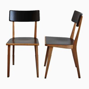 Vintage Dining Chairs from Horgen-Glarus, Set of 2