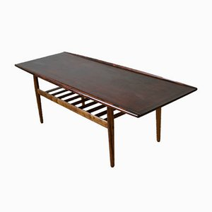Mid-Century Danish Rosewood Coffee Table by Grete Jalk for Glostrup Møbelfabrik, 1960s