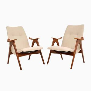 Vintage Dutch Armchairs by Louis Van Teeffelen, 1960s, Set of 2