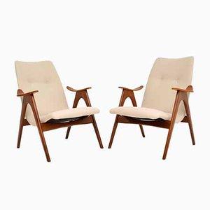 Vintage Dutch Armchairs by Louis Van Teeffelen, 1960s, Set of 2