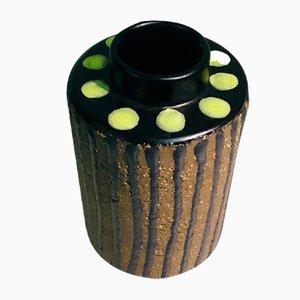 Art Deco Modell Ring Vase aus Steingut von Mari Simmulson für Upsala Ekeby, 1960er