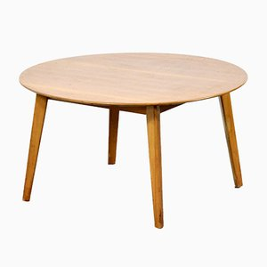 Mid-Century Round Walnut Coffee Table by Vanson for Heal's, 1960s