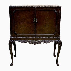 Chippendale Bar in Burr Walnut, 1930s