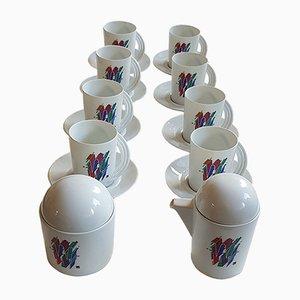 Alphabet Buchstabe W Kaffeeservice von Marcello Morandini für Rosenthal, 1989, 10er Set