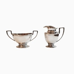 Mid-Century Art Deco Style Milk & Sugar Set from D. J. Aubert , Set of 2