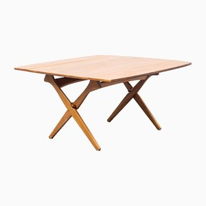 Tavolino da caffè in teak di Arne Hovmand-Olsen per Mogens Kold, Danimarca, anni '60