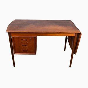 Danish Arne Vodder Style Teak Extendable Desk, 1960s