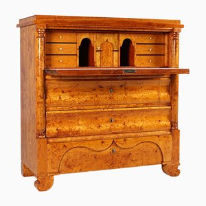 Antique Swedish Birch Secretaire, 1870
