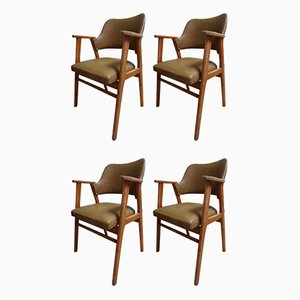 Birch & Leatherette Dining Chairs by Cees Braakman for USM Pastoe, 1950s, Set of 4