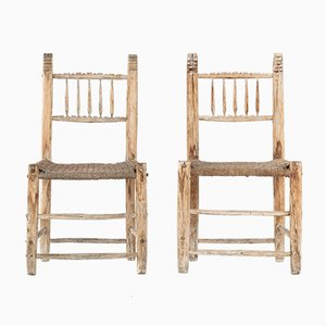 Spanish Side Chairs, 1800s, Set of 2