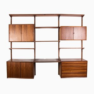 Large Danish Teak Adjustable Wall Unit by Poul Cadovius for Cado, 1960s
