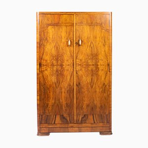 Art Deco Walnut Wardrobe, 1930s