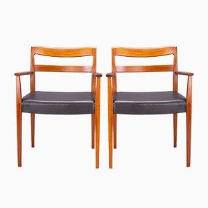 Schwedische Garmi Carver Esszimmerstühle von Nils Jonsson für Hugo Troeds, 1960er, 2er Set