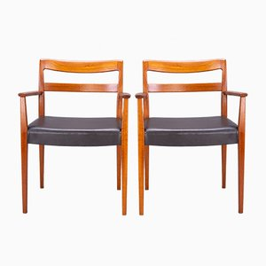 Swedish Garmi Carver Dining Chairs by Nils Jonsson for Hugo Troeds, 1960s, Set of 2