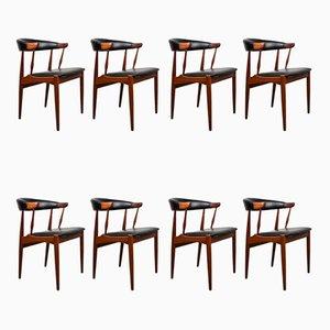 Dänische Teak & Kunstleder Beistellstühle von Johannes Andersen für Bröderna Andersson, 1964, 8er Set