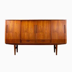 Danish Teak & Rosewood Veneer Cocktail Cabinet by Jensen & Rasnov for Horsens, 1960s
