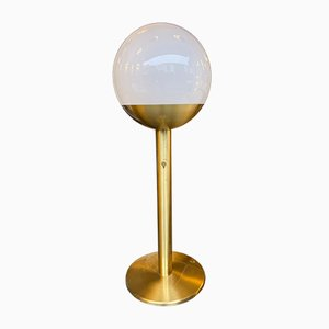 Italian Brass & Glass P428 Floor Lamp by Pia Guidetti Crippa for Luci Italia, 1970s