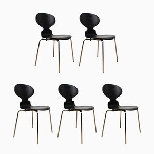 Chaises d'Appoint Ant par Arne Jacobsen pour Fritz Hansen, Danemark, 1986, Set de 5