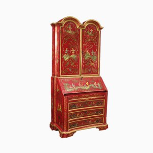 Venetian Lacquered & Painted Chinoiserie Trumeau, 1950s