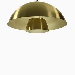 Dänische Aluminium Olympus Deckenlampe von Lyfa, 1970er
