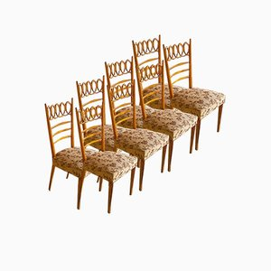 Dining Chairs by Osvaldo Borsani for Atelier Borsani Varedo, 1940s, Set of 8