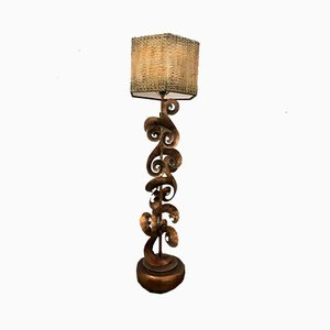 Wrought Iron & Copper Table Lamp by Leeazanne for Lam Lee Group, 1990s