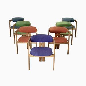 Italienische Pigreco Esszimmerstühle von Tobia Scarpa für Gavina, 1950er, 7er Set