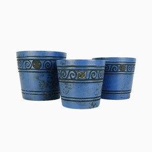 Ceramic Pergamon Flower Pots by Hans Welling for Ceramano, 1960s, Set of 3